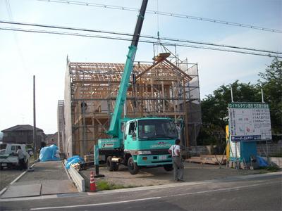 上棟 いよいよ大工工事のはじまりです