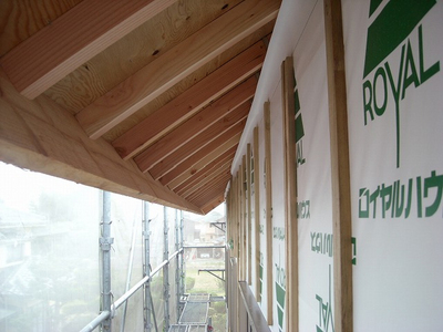 屋根垂木下地