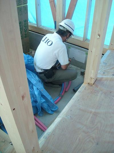 .JIO検査 住宅瑕疵担保責任保険の対象となる基礎部分の検査です